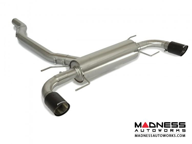 Alfa Romeo Giulia Performance Exhaust - 2.0L - Ragazzon - Axle Back - Muffled - w/ Carbon Fiber Tips