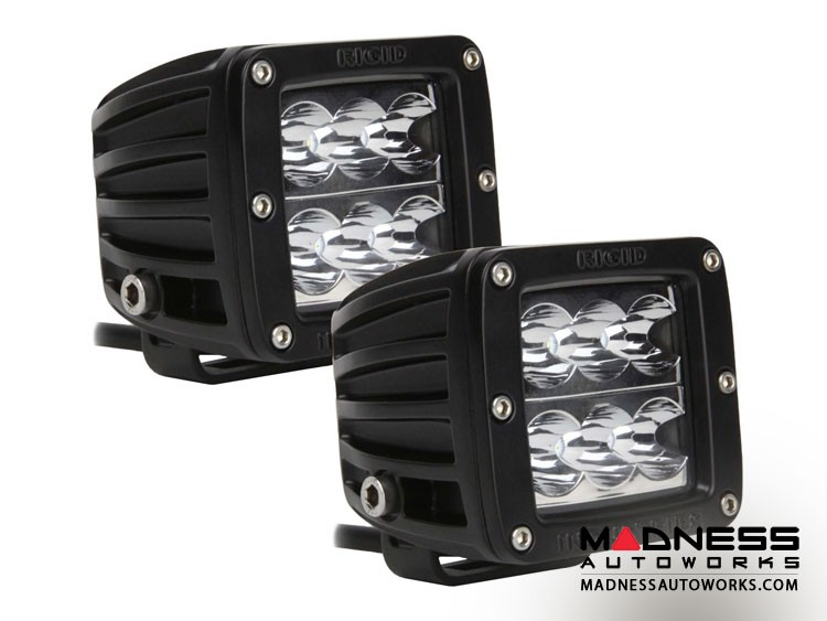 Pair Dually D2 Series Flood Lights by Rigid Industries - Wide Beam