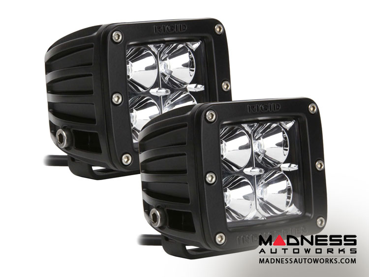 Pair Dually Flood Lights by Rigid Industries - Black Housing