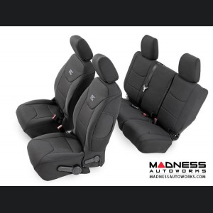 Jeep Wrangler JK Black Neoprene Seat Cover Set (2008 - 2010)