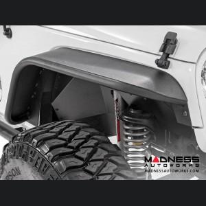 Jeep Wrangler JK Tubular Front + Rear Fender Flare Set - 2007 - 2018