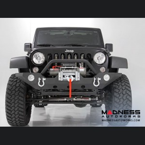 Jeep Wrangler JK Black Full Width Front Bumper w/ Winch Mount (2007 - 2018)