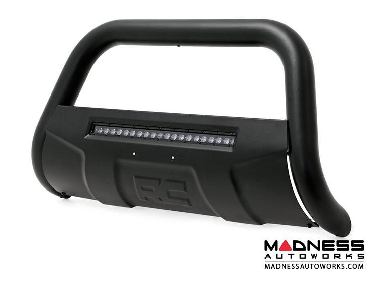 GMC Sierra 1500 Black Bull Bar w/ LED Light Bar (2007 - 2018)