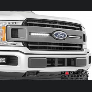 "Ford F-150 Dual LED Grille Kit - Chrome Series - 10"""