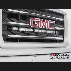 GMC Sierra 1500 30in Single Row Curved CREE LED Grill Kit by Rough Country (2014 - 2018)