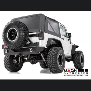 Jeep Wrangler JK Black Heavy Duty Rock Crawler Rear Bumper (2007 - 2018)