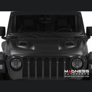 Jeep Wrangler JL Functional Hood Scoops - for S&B Cold Air Intake