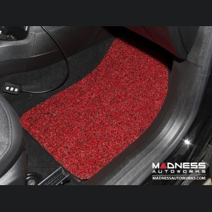 Jeep Renegade All Weather Floor Mats and Cargo Mat (set of 5) - Custom Rubber Woven Carpet - Red and Black