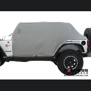 Jeep Wrangler JK by Smittybilt - Cab Cover w/ Door Flap - 4 Door - Grey