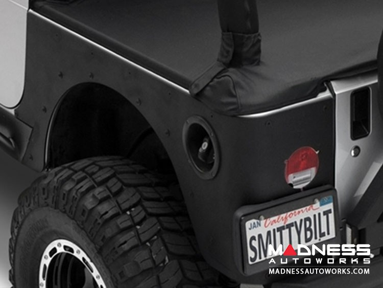 Jeep Wrangler JK XRC Rear Corner Guards by Smittybilt - Black Textured