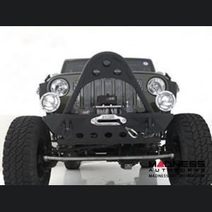 Jeep Wrangler JK SRC Stinger Front Bumper by Smittybilt - Black Textured