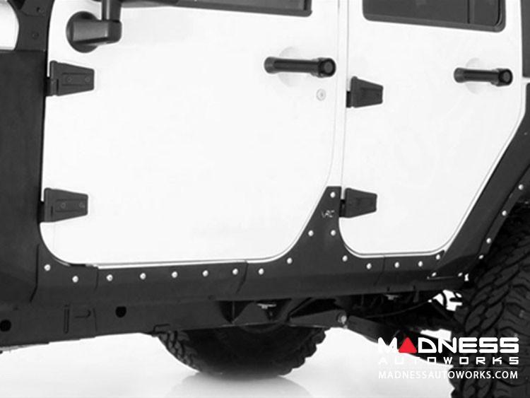 Jeep Wrangler JK XRC Body Cladding by Smittybilt - Black Textured - 4 Door