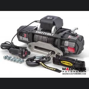 Winch by Smittybilt - Comp Series - Winch w/ Synthetic Rope & Aluminum Fairlead