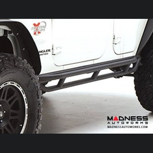 Jeep Wrangler JK SRC Side Armor by Smittybilt - Black Textured - 4 Door