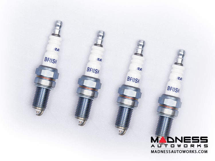 Jeep Renegade Spark Plugs - 1.4L - Silver Racing by Brisk - Set of 4
