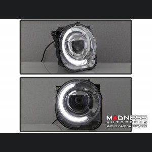 Jeep Renegade Projector Headlights w/ DRL Light Bar by Spyder Auto - xTune - Chrome