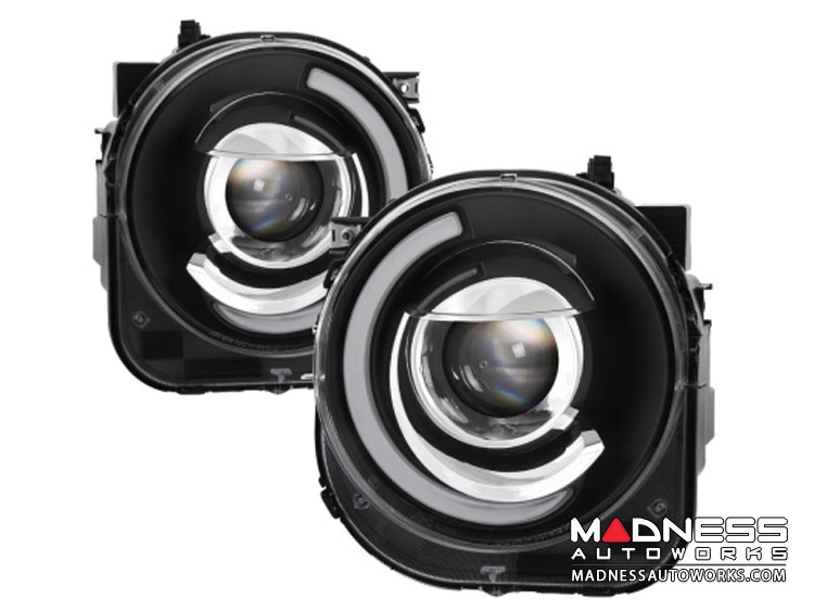 Jeep Renegade Projector Headlights w/ DRL Light Bar by Spyder Auto - xTune - Black