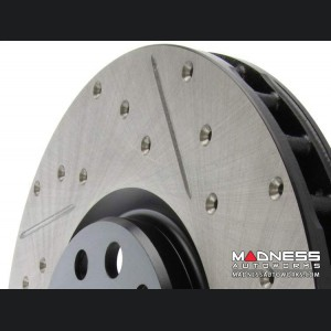 Jeep Compass Performance Brake Rotor - StopTech - Drilled and Slotted - Rear Left