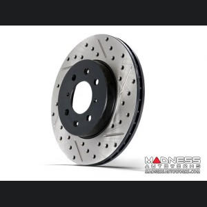 Chrysler 200 Performance Brake Rotor - StopTech - Drilled and Slotted - Front Left