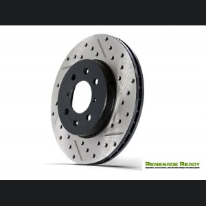 Jeep Compass Performance Brake Rotor - StopTech - Drilled and Slotted - Front Left