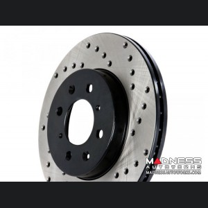 Jeep Compass Performance Brake Rotor - Drilled and Vented - Front Left