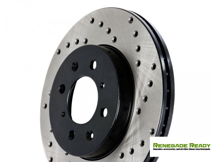Jeep Compass Performance Brake Rotor - Drilled and Vented - Front Right