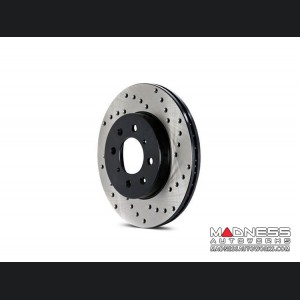 Jeep Compass Performance Brake Rotor - Drilled - Rear Left