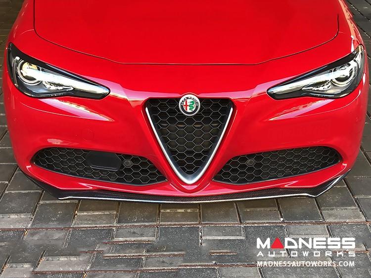 Alfa Romeo Giulia Front Spoiler - Italia Style - 100% Carbon Fiber - Gloss Finish - V1