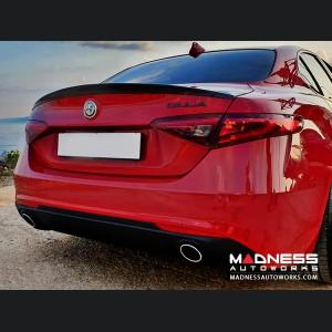 Alfa Romeo Giulia Trunk Spoiler - Italia Style - 100% Carbon Fiber - Gloss Finish