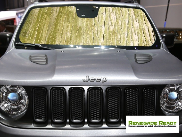 Jeep Renegade Windshield Reflector By Intro Tech Gold Madness Autoworks Auto Parts And Accessories