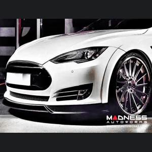 Tesla Model S Front Spoiler - Carbon Fiber - Estremo