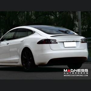 Tesla Model S Rear Diffuser w/ Custom Splitters - Carbon Fiber