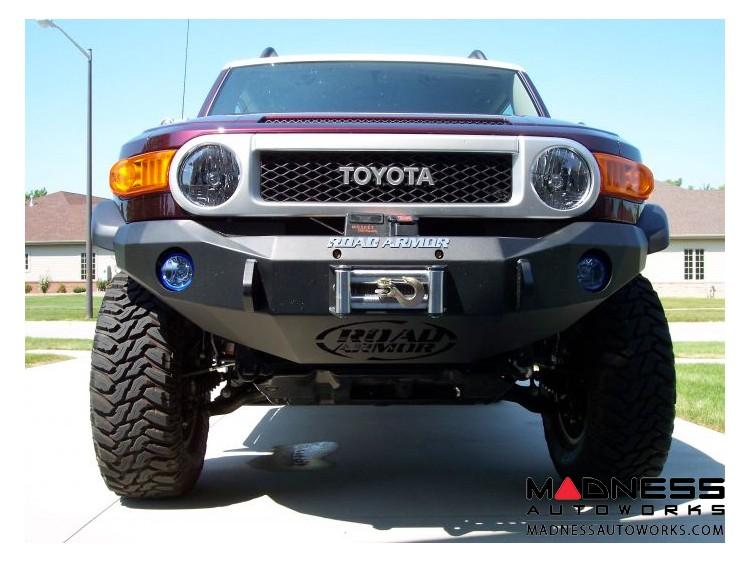 Toyota FJ Cruiser Stealth Front Winch Bumper - Texture Black WARN M8000 Or 9.5xp