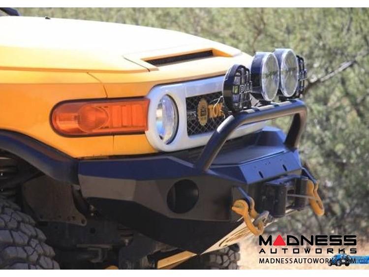 Toyota FJ Cruiser Stealth Front Winch Bumper Pre-Runner Guard - Texture Black WARN M8000 Or 9.5xp