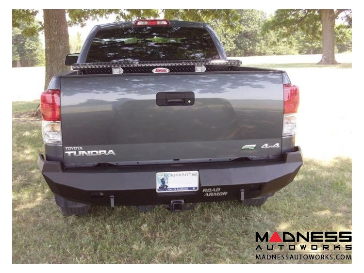 Toyota Tundra Stealth Rear Winch Bumper - Texture Black WARN M8000 Or 9.5xp