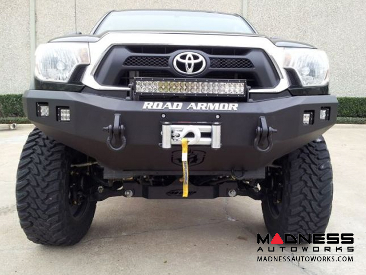 Toyota Tacoma Stealth Front Winch Bumper - Texture Black WARN M8000 Or 9.5xp