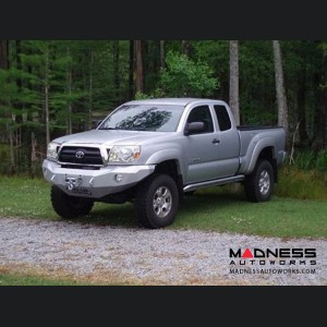 Toyota Tacoma Stealth Front Winch Bumper - Raw Steel WARN M8000 Or 9.5xp