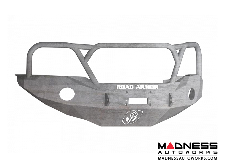 Toyota Tacoma Stealth Front Winch Bumper Lonestar Guard - Raw Steel WARN M8000 Or 9.5xp