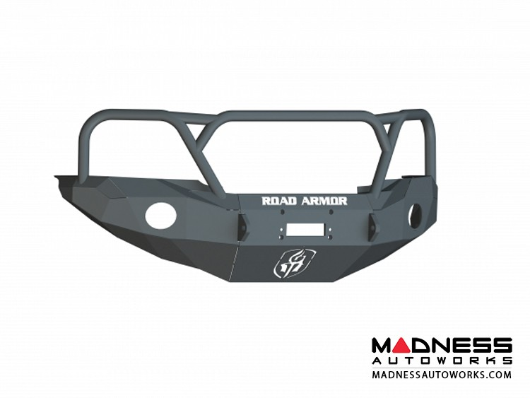 Toyota Tacoma Stealth Front Winch Bumper Lonestar Guard - Texture Black WARN M8000 Or 9.5xp