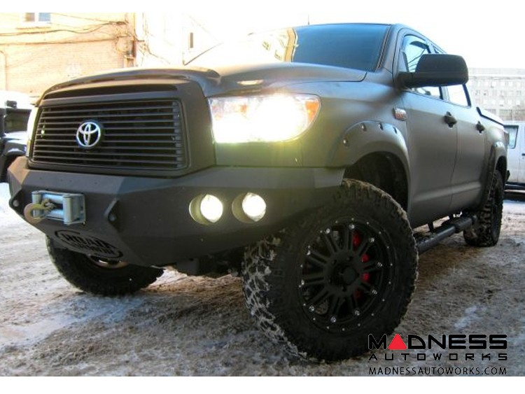 Toyota Tundra Stealth Front Winch Bumper - Raw Steel WARN M8000 Or 9.5xp