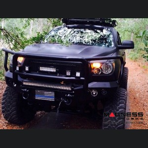 Toyota Tundra Stealth Front Winch Bumper Lonestar Guard - Raw Steel WARN M8000 Or 9.5xp