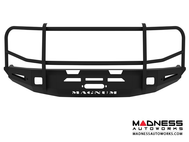 Toyota Tundra Magnum Grille Guard Series - Winch Bumper w/ Parking Sensors - Square - Front