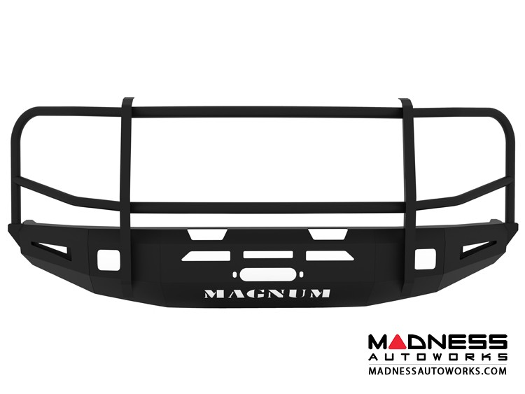 Toyota Tundra Magnum Grille Guard Series - Winch Bumper w/o Parking Sensors - Square - Front