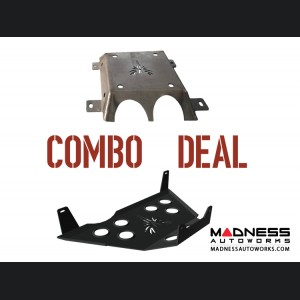 Jeep Compass Skid Plate 2 Piece Kit - Black Powdercoated Finish