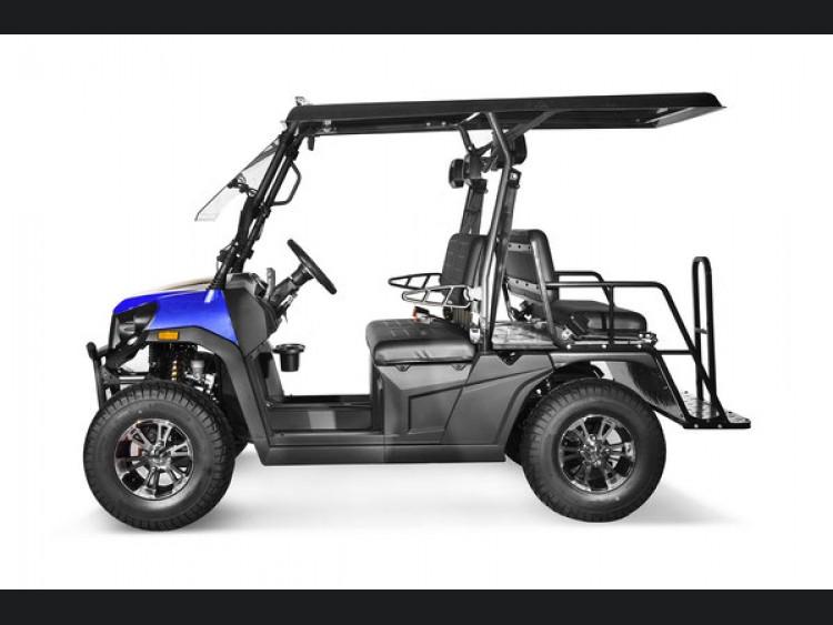 Golf Cart - 4 Seater/ UTV - Gas Powered - EFI - Rover 200 - Deluxe Model - Blue Finish