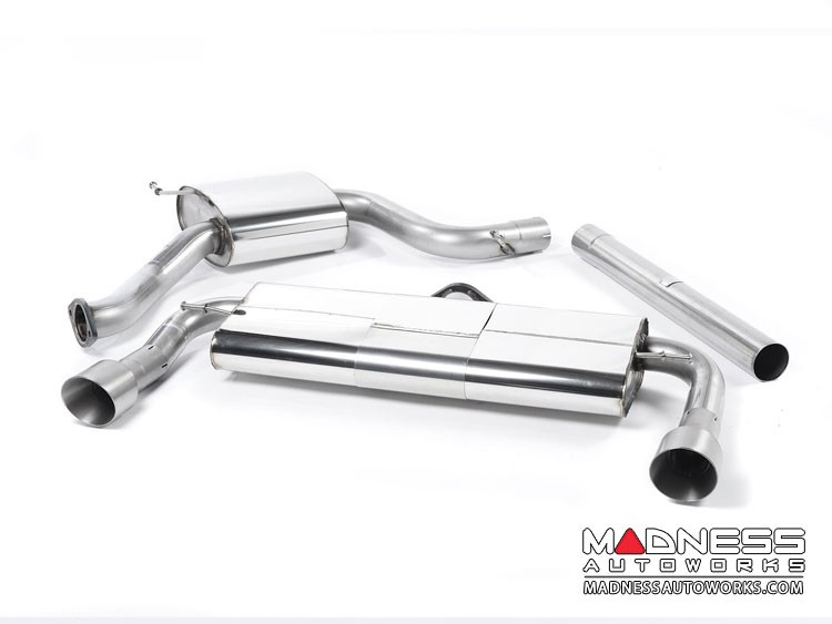 Volkswagen Golf Mk7 GTi Cat-Back Exhaust System by Milltek - Resonated - Titanium Tips
