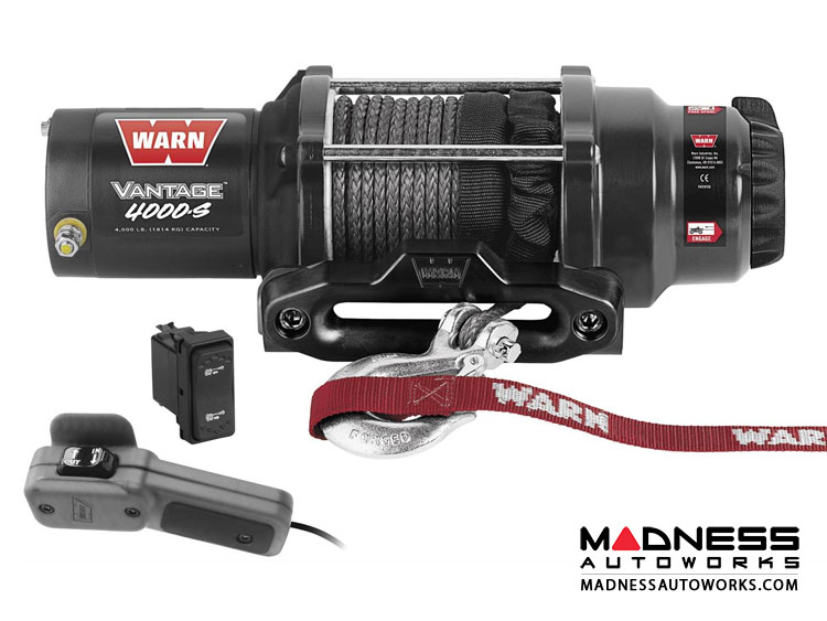 Powersports Vantage 4000s Winches by Warn w/ Synthetic Rope