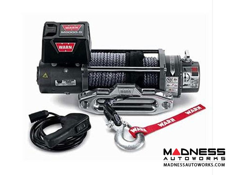 Truck Winches by Warn - M8000 12V w/ Synthetic Rope