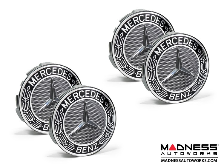 Mercedes Benz Center Wheel Cap - Black - Large (4)
