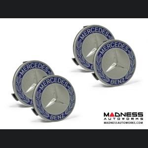Mercedes Benz Center Wheel Cap - Blue - Large (4)
